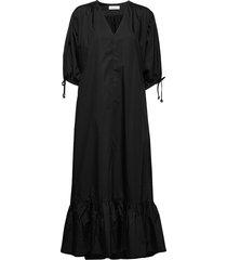 dakota maxi dress galajurk zwart rodebjer