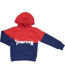 moncler cotton hooded sweatshirt
