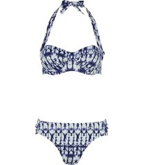 shiwi bikini balcony padded cup d blauw