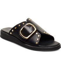 angela shoes summer shoes flat sandals svart pavement