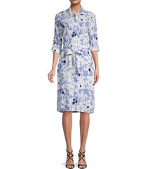 diane von furstenberg women's kadina floral shirtdress - wave stripe - size m
