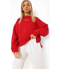 oversized sweater met langere achter zoom, red