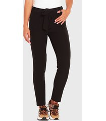 pantalón wados pitillo negro - calce ajustado