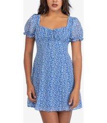 b darlin juniors' printed a-line dress