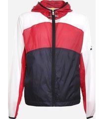 moncler genius nylon jacket with a color-block design