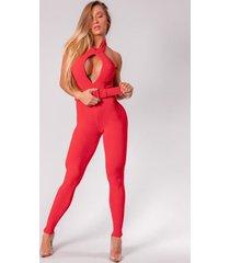 macacã£o raquel vermelho-m - vermelho - feminino - poliã©ster - dafiti