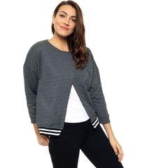 sweater gris felisa triángulo
