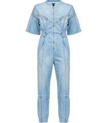 pinko denim jumpsuit - blue