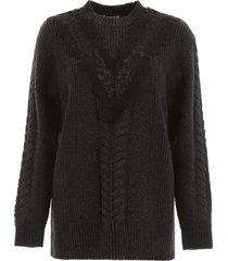see by chloé pullover with lace