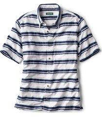 horizontal stripe short-sleeved shirt
