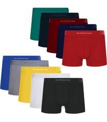 cueca boxer sem costura selene kit com 10 peças.