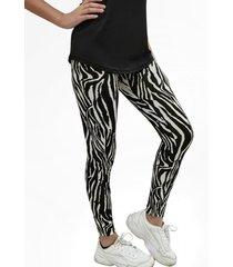 calza leggings animal print cebra mlk