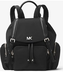 mk zaino beacon medio in nylon - nero (nero) - michael kors
