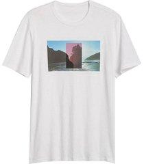 camiseta blanca-multicolor gap
