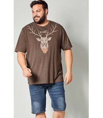 t-shirt men plus brun