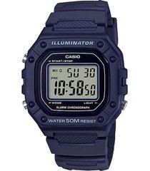 reloj casio w_218h_2av azul resina hombre