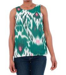 blouse vero moda 10193729 vmmarrakech snow white / green