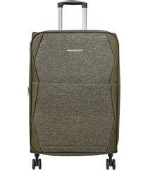 maleta de viaje mediana verde rayo - explora