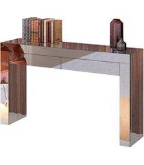 mesa aparador em mdf gênova 2 gavetas 90x120cm espelhado