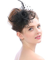 abiti da sposa capelli accessori feather flowers cappello wedding party garza velo copricapo capelli bands