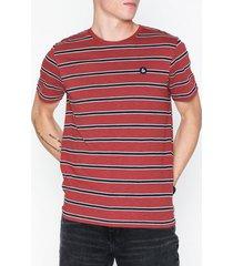 jack & jones jorstanford tee ss crew neck t-shirts & linnen mörk röd