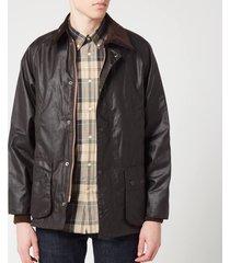 barbour heritage men's bedale wax jacket - rustic - m