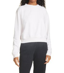 women's cotton citizen milan tie dye crop sweatshirt, size large - ivory