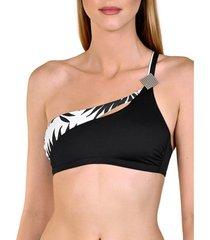 bikini lisca zwempak top 1 band zonder beugel ocean city zwart