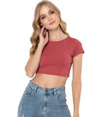 camiseta cropped bali rojo ragged pf13120473