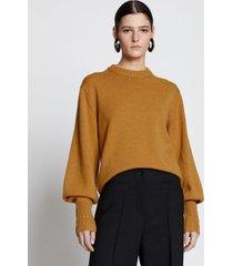 proenza schouler merino balloon sleeve sweater gold/yellow l