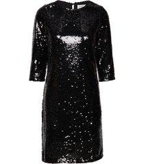 adiba jurk knielengte zwart minimum