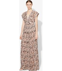 proenza schouler abstract animal print maxi dress coral/black abstract animal/pink 4