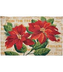 jogo americano flor mesa natalina 38 x 48 cm cor vermelho - vermelho - dafiti