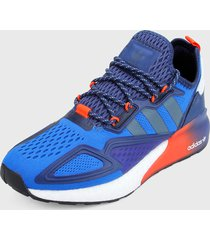 tenis lifestyle azul-multicolor adidas originals zx 2k boost
