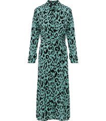 maxi jurk panterprint groen