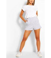pocket detail sweat shorts, grey