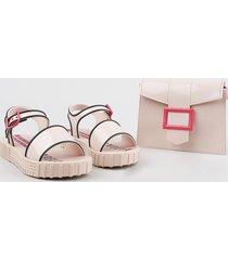sandália infantil grendene larissa manoela vem com bolsa fashion rosê