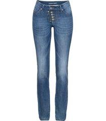 jeans skinny con abbottonatura a vista e zip (blu) - rainbow
