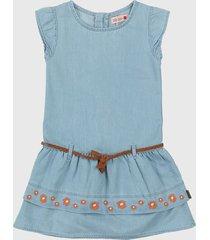 vestido azul-café boboli