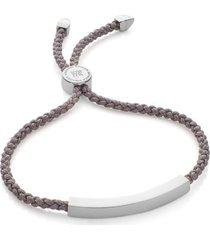 linear friendship bracelet, sterling silver