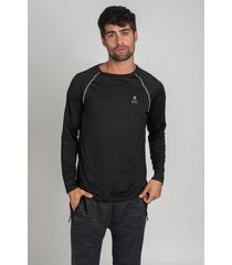 remera negra oxford polo club under