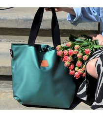 duża torba shopperka mili duo - metalic green