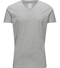 mens stretch v-neck tee s/s t-shirts short-sleeved grå lindbergh
