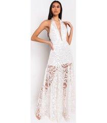 akira love is. lace detail halter dress