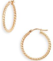 women's bony levy 14k gold texture swirl hoop earrings (nordstrom exclusive)