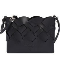 prada woven clutch bag - black