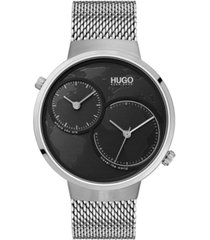 hugo men's #travel stainless steel mesh bracelet watch 42mm