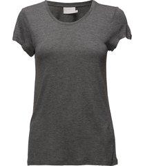 anna o-neck t-shirt t-shirts & tops short-sleeved grå kaffe