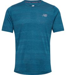 q speed fuel jacquard ss t-shirts short-sleeved blå new balance