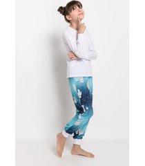 pijama manga longa acuo pijama manga longa azul - azul - menina - dafiti